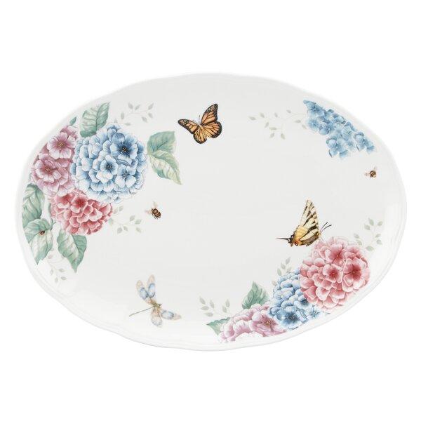 Butterfly Meadow Hydrangea Large Oval Platter by Lenox