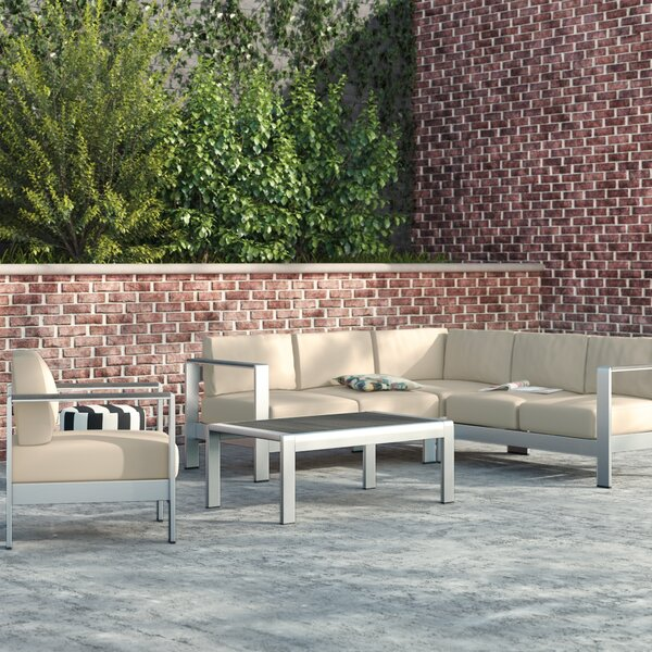 Coline 5 Piece Sectional Seating with Cushions by Orren Ellis