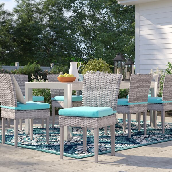 Falmouth Patio Dining Chair with Cushion (Set of 8) by Sol 72 Outdoor Sol 72 Outdoor