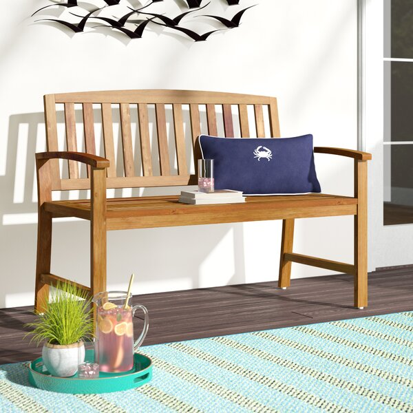 Leora Acacia Wood Garden Bench By Beachcrest Home