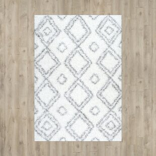 Reviews Baxley White Area Shag Rug By Mercury Row