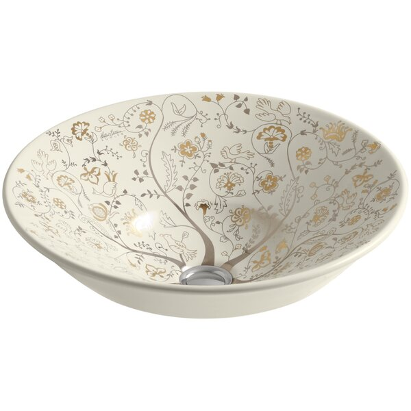 Mille Fleurs Ceramic Circular Vessel Bathroom Sink by Kohler