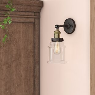 Read Reviews Greeley 1-Light Armed Sconce By Laurel Foundry Modern Farmhouse