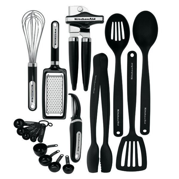 17 Piece Starter Tool and Gadget Utensil Set - KC448BXOBA by KitchenAid