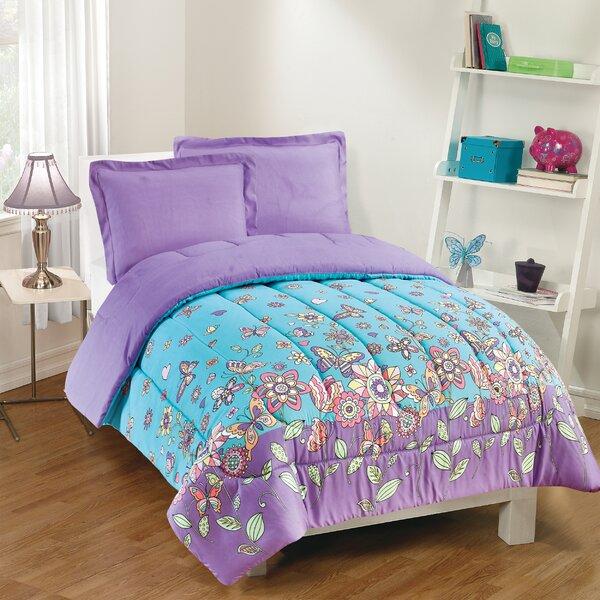 Ridge 3 Piece Reversible Comforter Set by Zoomie Kids