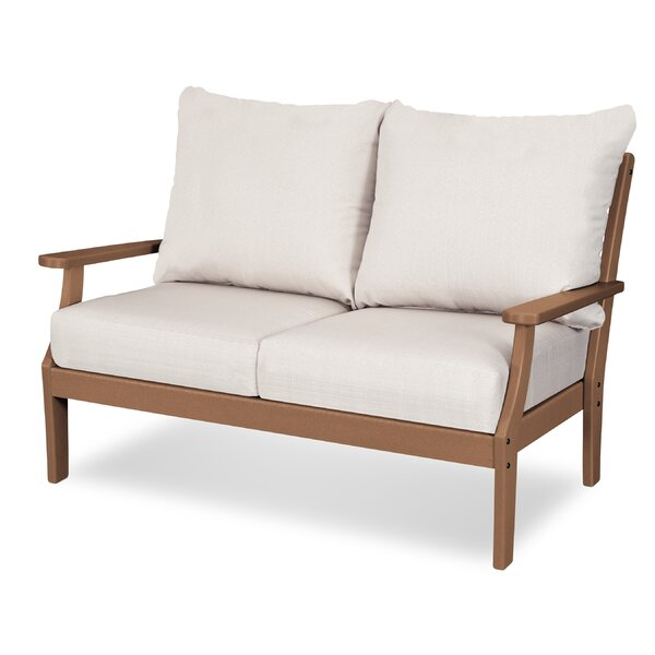 Braxton Deep Loveseat with Cushions by POLYWOOD®