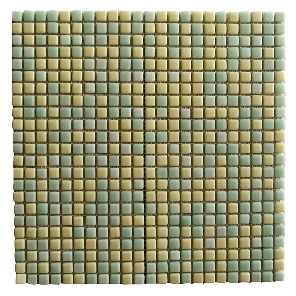Full Body 0.5 x 0.5 Glass Mosaic Tile in Jade by Abolos