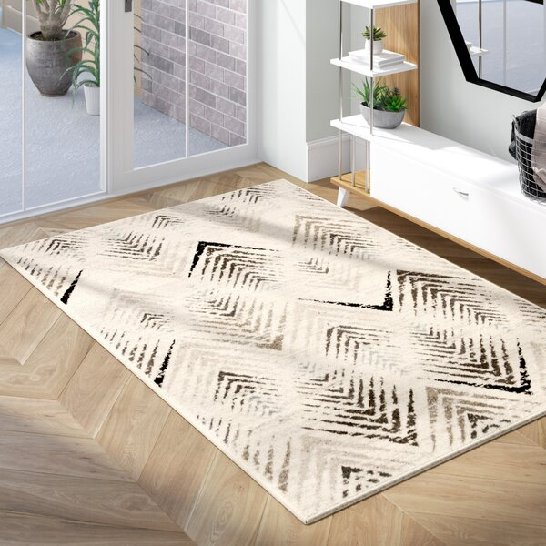Alioth Cream/Beige Area Rug by Wrought Studio