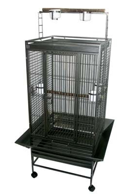 Play Top Parrot Bird Cage with 3 Feeder doors by YML