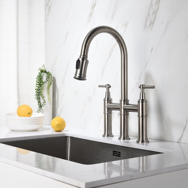 Pull Down Bridge Faucet by Panjome Panjome