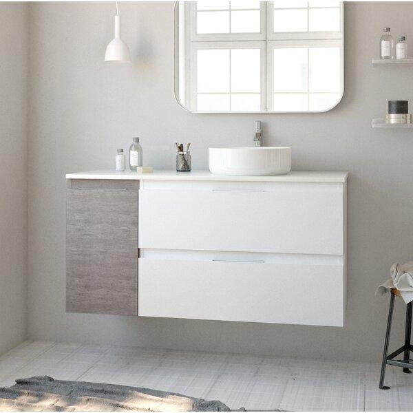 Elden 43 Wall-Mounted Single Bathroom Vanity Set