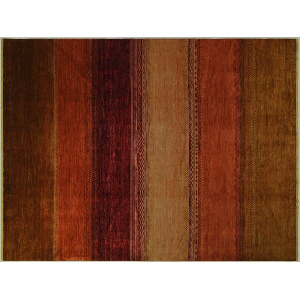 Alpert Hand-Knotted Wool Rust/Brown Area Rug by Red Barrel Studio