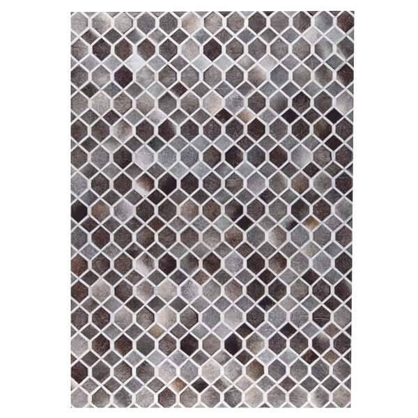 Hydra Hand Woven Gray/White Area Rug by M.A. Trading