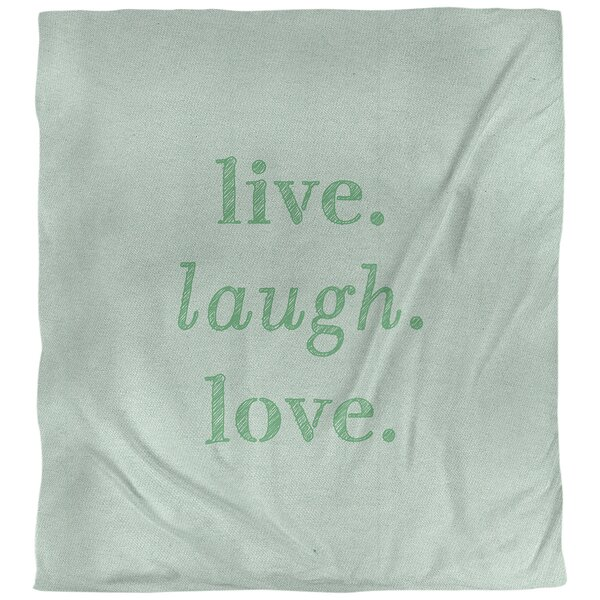 Quotes Handwritten Live Laugh Love Single Reversible Duvet Cover