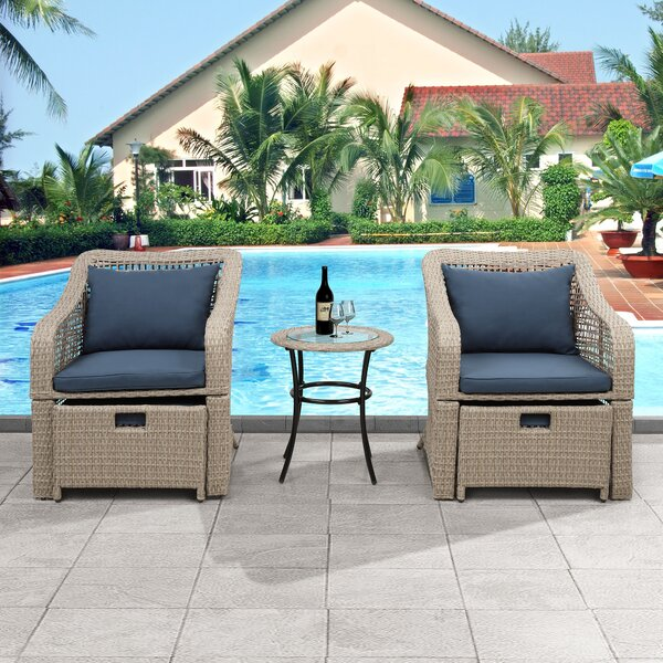 Chipps 5 Piece Bistro Set with Cushions