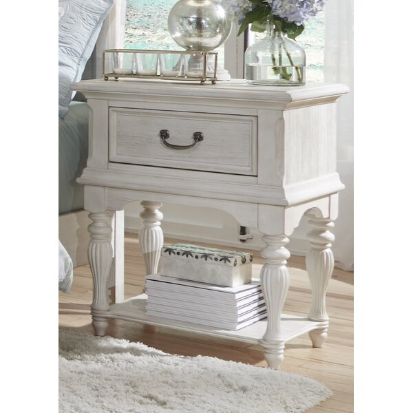 Trenton Leg 1 Drawer Nightstand by Rosecliff Heights