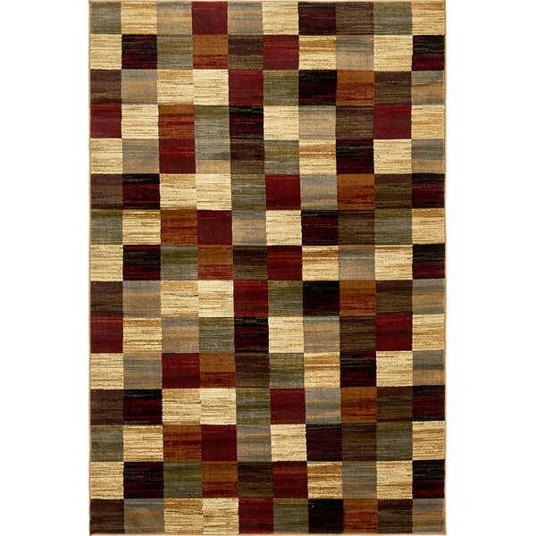 Jaidan Brown/Beige Geometric Area Rug by Bloomsbury Market