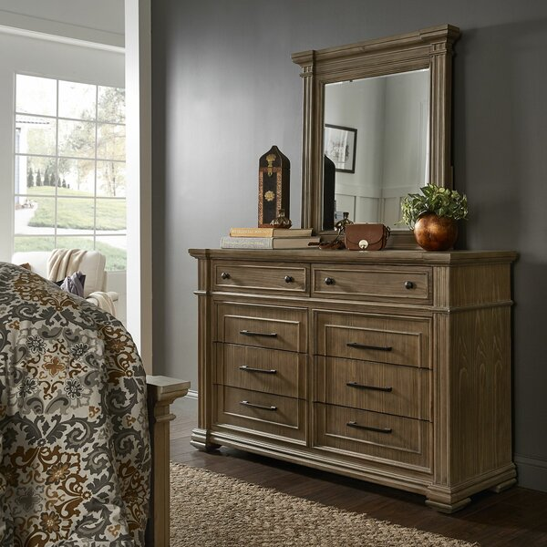 Aphan 8 Drawer Dresser with Mirror by Charlton Home