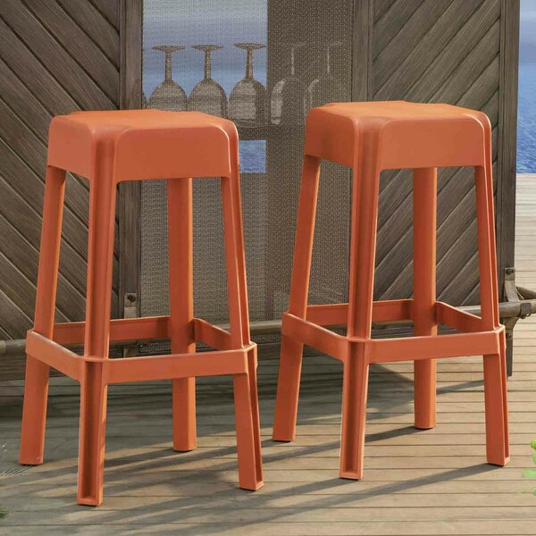 Buzard 30 Patio Bar Stool (Set of 2) by Orren Ellis