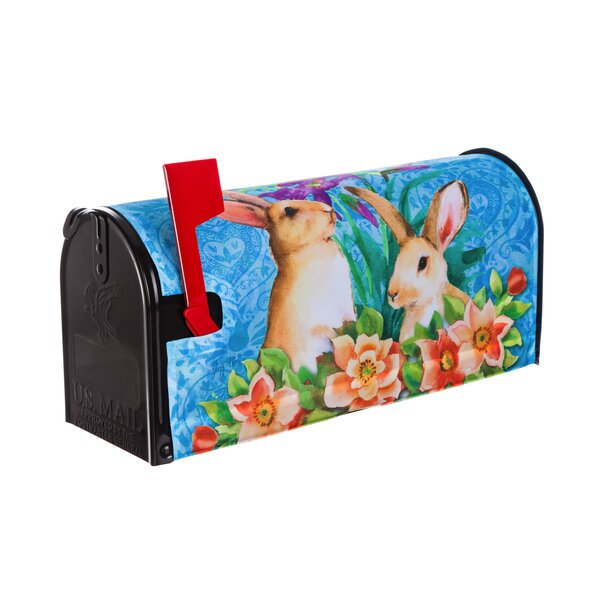 Bunny Patch Mailbox Cover by Evergreen Flag & Gard