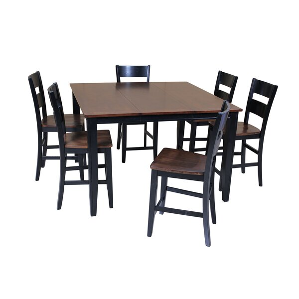 Blessington 7 Piece Counter Height Solid Wood Dining Set by Red Barrel Studio