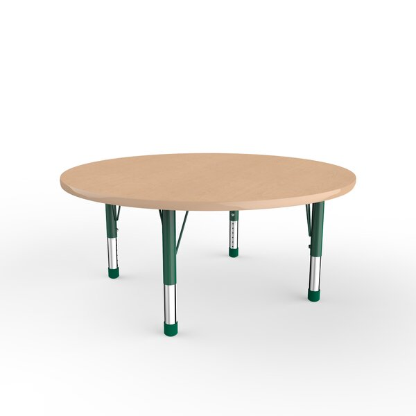 Maple Top Thermo-Fused Adjustable 48 Circular Activity Table by ECR4kids