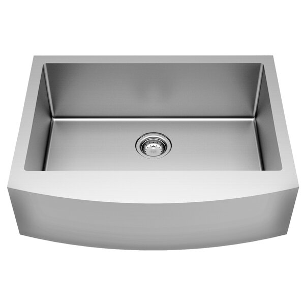 Pekoe Stainless Steel  33 L x 22 W Farmhouse/Apron Kitchen Sink with Sink Grid and Drain Assembly by American Standard