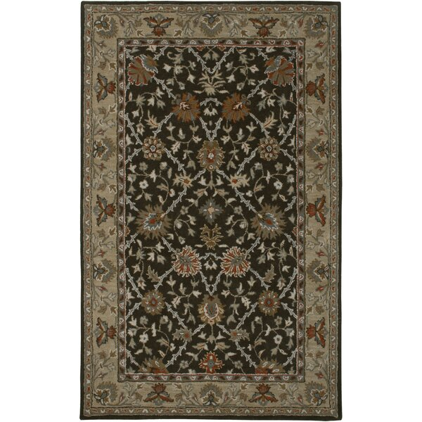 Libreville Hand-Tufted Brown/Beige Area Rug by Meridian Rugmakers