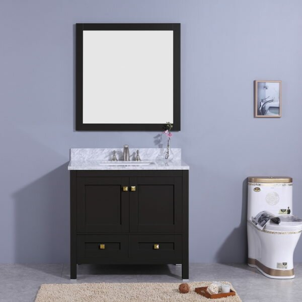 Bluffridge 37 Single Bathroom Vanity Set with Mirror by Winston Porter