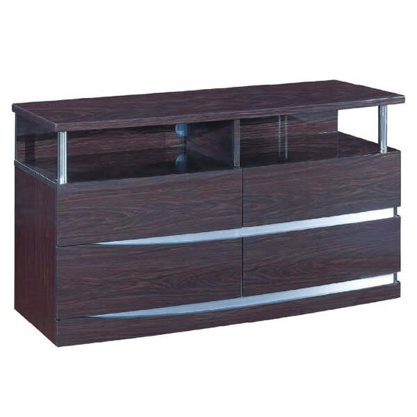 Emely Solid Wood TV Stand For TVs Up To 50