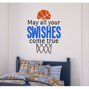 Basketball Sports May All Your Swishes Come True Vinyl Wall Decal