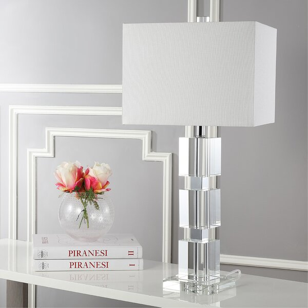 Ice Palace Cube 28 Table Lamp by Safavieh