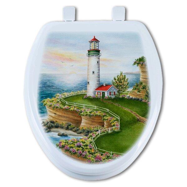 Lighthouse Sunset Round Toilet Seat by TGC Artisans Seats