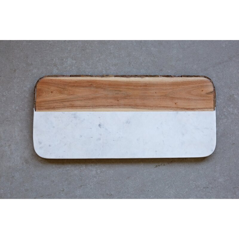 Pippa White Marble and Mango Wood Cheese Tray