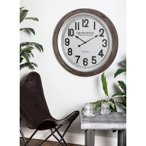 Oversized Wood 31 Wall Clock by Cole & Grey
