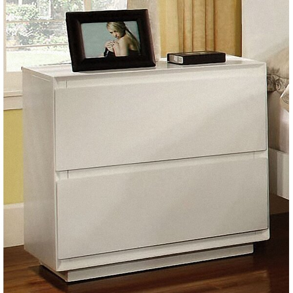 Pearl 2 Drawer Nightstand by Hokku Designs