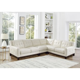 Oxford Leather Sectional by Brayden Studio