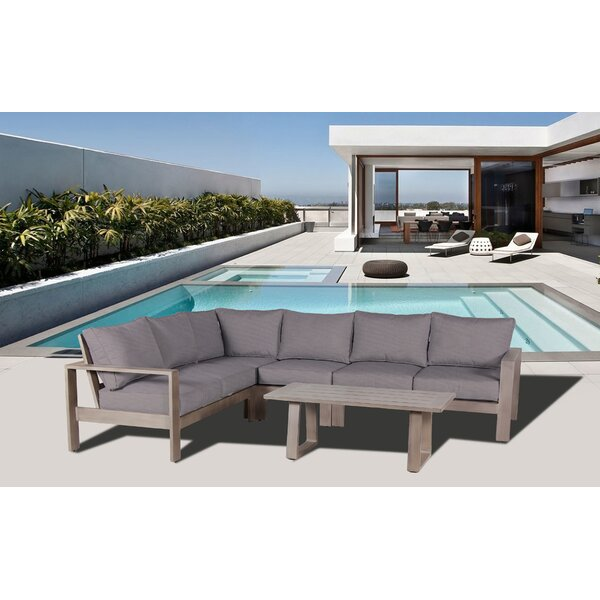Potsdam 7 Piece Rattan Sectional Set with Cushions by Gracie Oaks