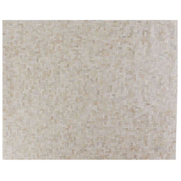 Natural Hide Ivory/Brown Area Rug by Exquisite Rugs