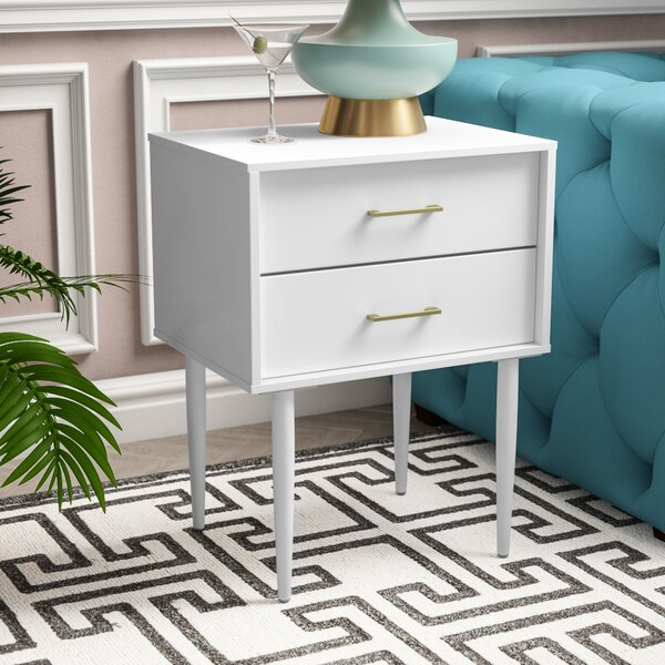 Patio Furniture Winningham 2 Drawer Side Table