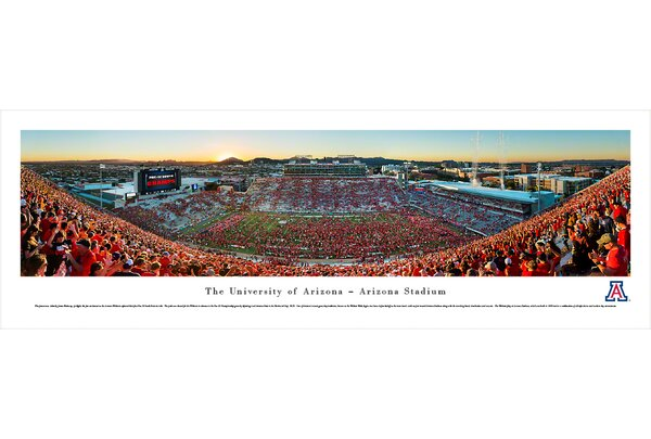 NCAA Arizona, University of by James Blakeway Photographic Print by Blakeway Worldwide Panoramas, Inc