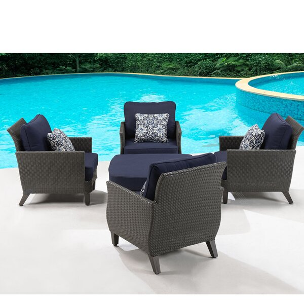 Dusek 5 Piece Conversation Set with Cushions by Darby Home Co