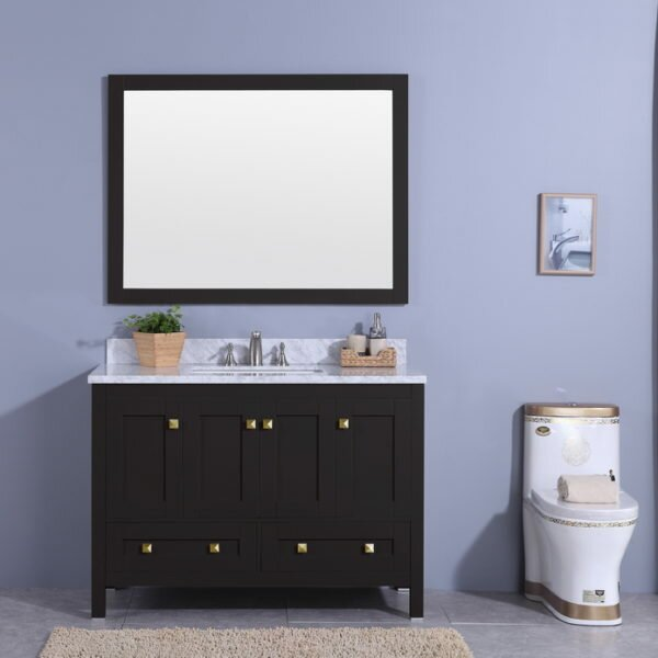 @ Midbury 49 Single Bathroom Vanity Set with Mirror by Andover Mills| #$0.00!