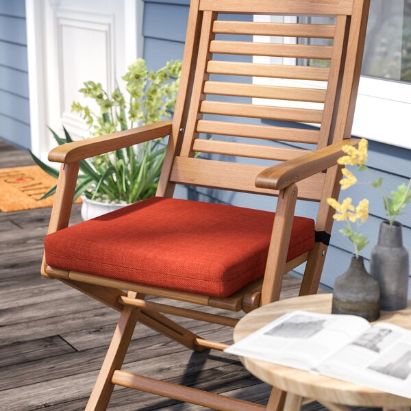 Solid Indoor/Outdoor Adirondack Chair Cushion by Andover Mills