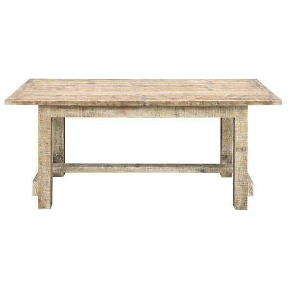 Clintwood Solid Wood Dining Table by Three Posts