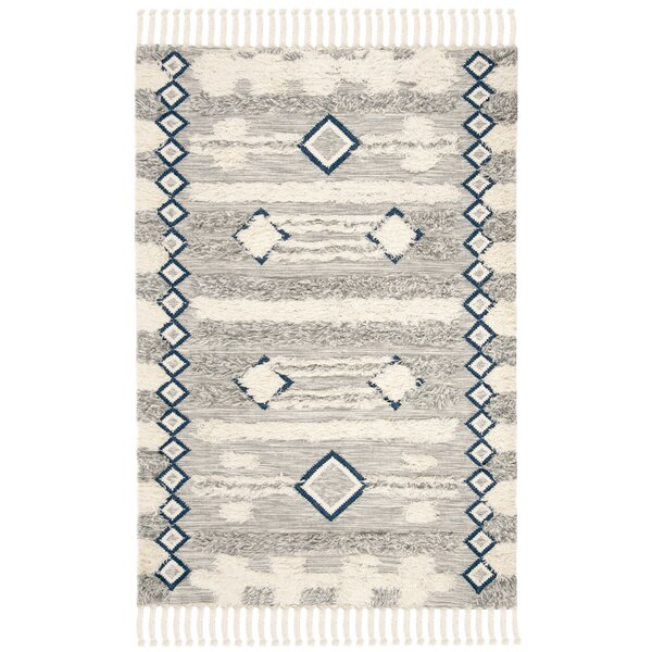 Cedar Drive Hand-Knotted Gray/Ivory Area Rug by Foundry Select