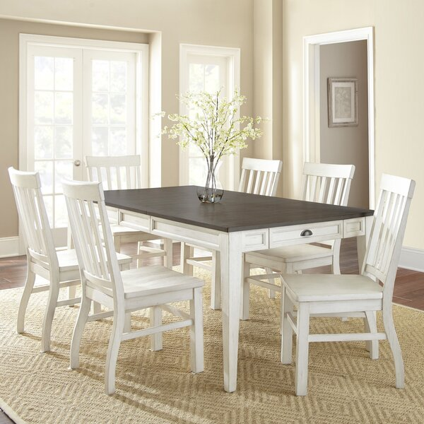 Duclos 7 Piece Drop Leaf Dining Table Set by Highland Dunes