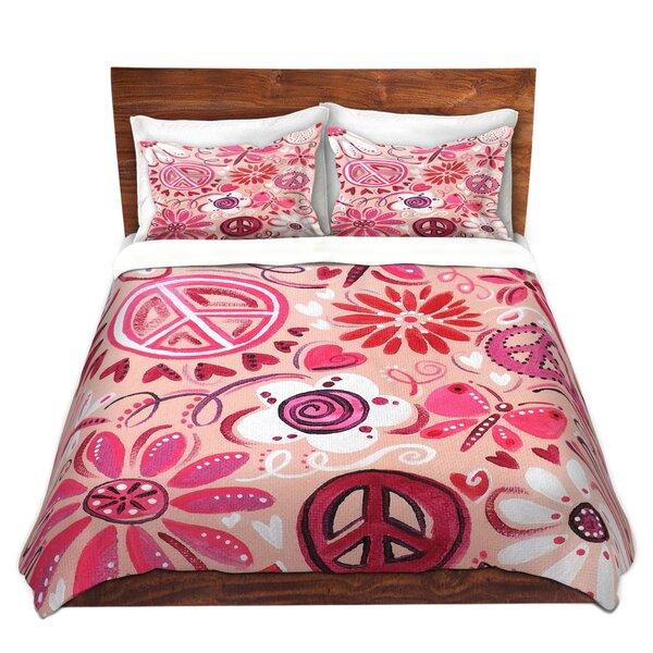 Hatherleigh nJoy Art Pink Peace Microfiber Duvet Covers