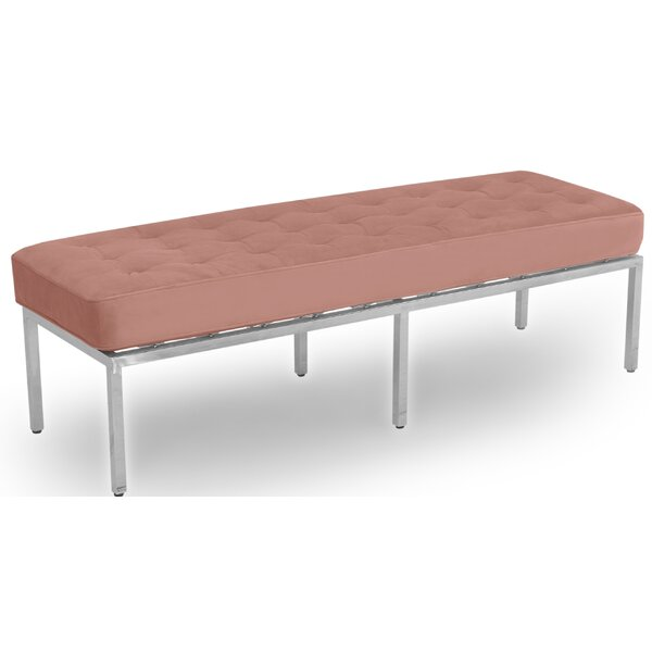 Runyon Leather Bench by Orren Ellis