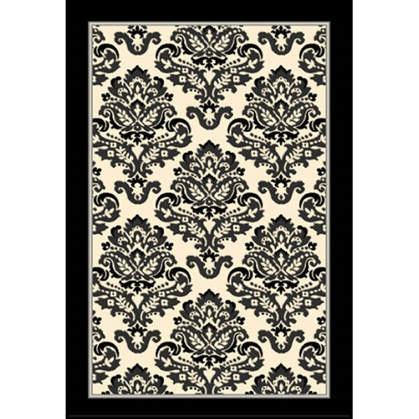 Arden Black/Ivory Area Rug by Ophelia & Co.